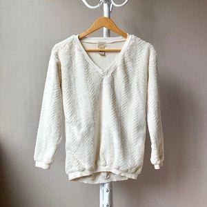 Eyelash Couture Soft White Fuzzy Sweater XS